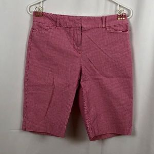 Talbots red gingham Bermuda shorts pockets 2